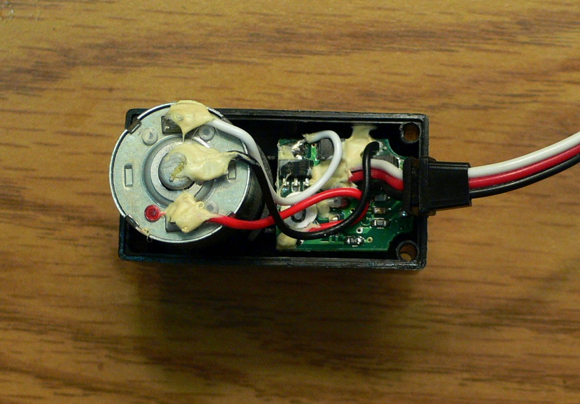 Convert A Servo Into High Torque Motor Trevors Bike Shed Selfbalancing Robot With Basic Electronics Hacks Mods Circuitry Cut Away The Hard Tacky Glue That Holds In Place Then Carefully Pull It Out